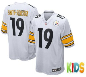 Camisa Infantil Nfl Futebol Americano Pittsburgh Steelers #19 Smith-Schuster