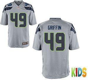 Camisa Infantil Nfl Futebol Americano Seattle Seahawks #49 Griffin