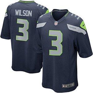 Camisa Nfl Futebol Americano Seattle Seahawks #3 Wilson