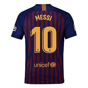 Camisa Barcelona Home 2018/2019 #10 Messi Frete Grátis