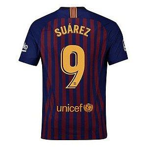 Camisa Barcelona Home 2018/2019 #9 Suarez Frete Grátis