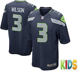 Camisa Infantil Nfl Futebol Americano Seattle Seahawks #3 Wilson