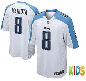Camisa Infantil Nfl Futebol Americano Tennessee Titans #8 Mariota