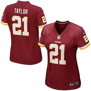Camisa Feminina Nfl Futebol Americano Washington Redskins #21 Taylor