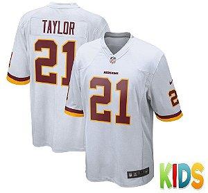 Camisa Infantil Nfl Futebol Americano Washington Redskins #21 Taylor
