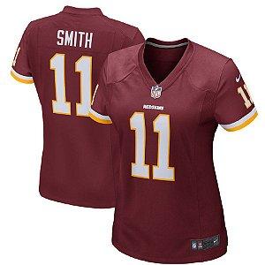 Camisa Feminina Nfl Futebol Americano Washington Redskins #11 Smith