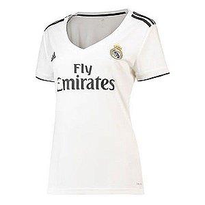 Camisa Real Madrid Feminina Home 2018/2019 - Personalização e Frete Grátis