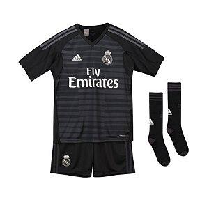 Kit Infantil Real Madrid Goleiro 2018/2019 Personalização e Frete Grátis