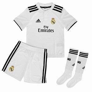 Kit Infantil Real Madrid Home 2018/2019 Personalização e Frete Grátis