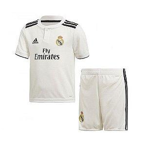 Kit Infantil Real Madrid Home Personalização e Frete Grátis