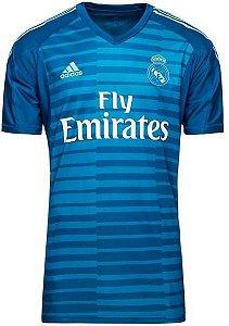 Camisa Real Madrid Goleiro 2018/2019 Personalização e Frete Grátis