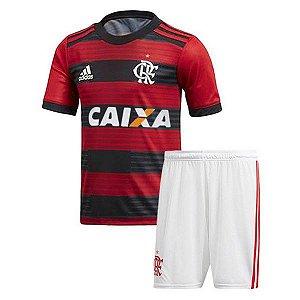 Kit Infantil Flamengo Home 2018/2019 Personalização e Frete Grátis