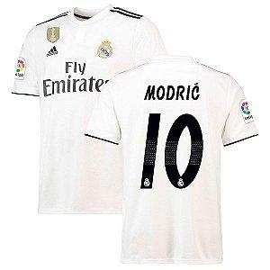 Camisa Real Madrid Home 2018/2019 #10 Modric Frete Grátis