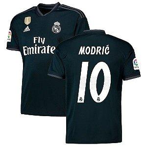 Camisa Real Madrid Away 2018/2019 #10 Modric Frete Grátis