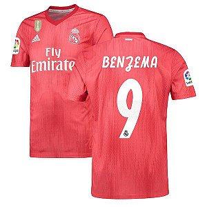 Camisa Real Madrid Third 2018/2019 #9 Benzema Frete Grátis