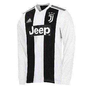 Camisa Juventus Home 2018/2019 Manga Longa - Personalização e Frete Grátis