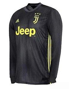 Camisa Juventus Third 2018 2019 Manga Longa - Personalização e Frete Grátis 4bb32ce50c6de