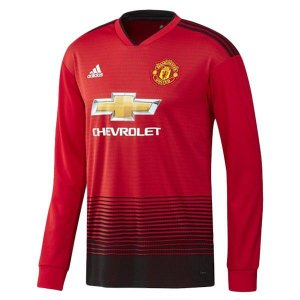 Camisa Manchester United Home Manga Longa 2018 2019 - Personalização e Frete Grátis