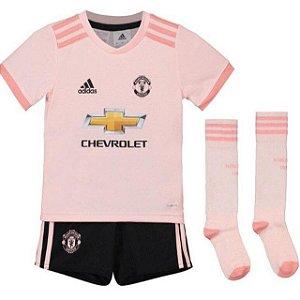 Kit Infantil Manchester United Away 2018/2019 Personalização e Frete Grátis