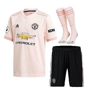 Kit Adulto Manchester United Away 2018/2019 - Personalização e Frete Grátis