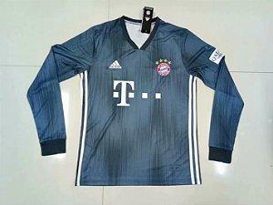 Camisa Bayern Munique Manga Longa Third 2018/2019 - Personalização e Frete Grátis