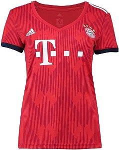 Camisa Bayern Munique Feminina Home 2018/2019 - Personalização e Frete Grátis