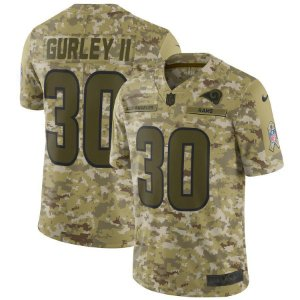 Camisa NFL Los Angeles Rams Futebol Americano #30 Todd Gurley II