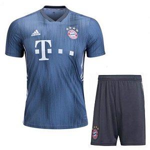 Kit Infantil Bayern Monique Third 2018/2019 Personalização e Frete Grátis