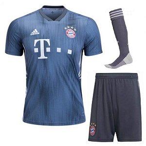 Kit Adulto Bayern Munique Third 2018/2019 Personalização e Frete Grátis