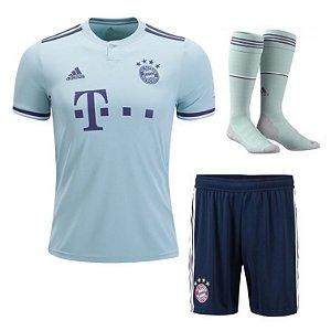 Kit Adulto Bayern Munique Away 2018/2019 Personalização e Frete Grátis