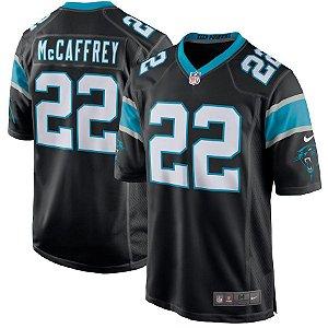Camisa NFL Carolina Panthers Futebol Americano #22 Christian McCaffrey