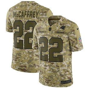 Camisa NFL Carolina Panthers Futebol Americano Salute to Service #22 Christian McCaffrey