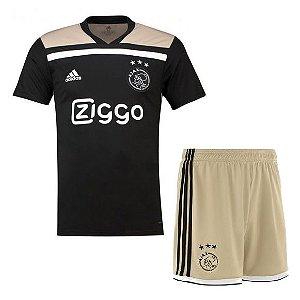 Kit Infantil Ajax Away 2018/2019 Personalização e Frete Grátis