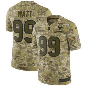 Camisa NFL Houston Texans Salute to Service Futebol Americano #99 JJ Watt