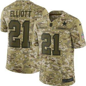Camisa NFL Dallas Cowboys Futebol Americano #21 Ezekiel Elliott