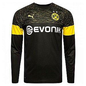 Camisa Borussia Dortmund Manga Longa Away 2018 2019 Personalização e Frete  Grátis dabedb5cb2a2f