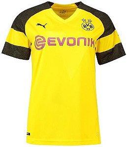 Camisa Borussia Dortmund Feminina Home 2018 2019 Personalização e Frete  Grátis 3278bdfdd34f8