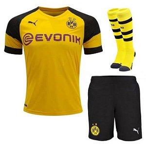 Kit Adulto Borussia Dortmund Home 2018/2019 Personalização e Frete Grátis