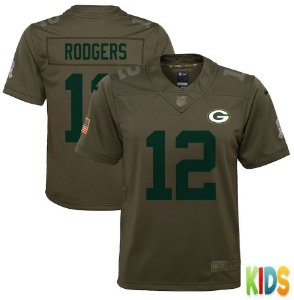 Camisa NFL Infantil Green Bay Packers Futebol Americano #12 Rodgers