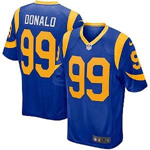 Camisa NFL Los Angeles Rams Futebol Americano #99 Donald