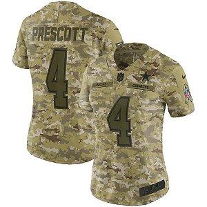 Nfl Feminina Dallas Cowboys 4 Futebol Americano #4 Prescott