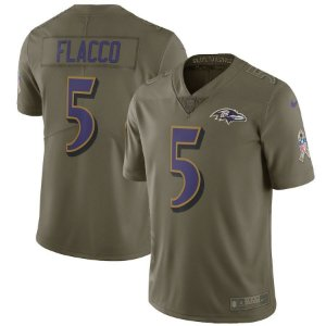 Camisa NFL Baltimore Ravens Salute to Service Futebol Americano #5 Flacco