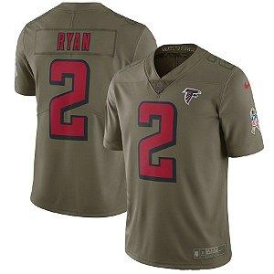 Camisa NFL Atlanta Falcons Salute To Service Futebol Americano #2 Ryan