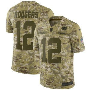 Camisa NFL Green Bay Packers Salute to Service Futebol Americano #12 Rodgers
