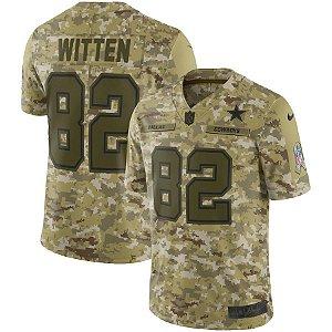 Camisa NFL Dallas Cowboys Futebol Americano #82 Witten