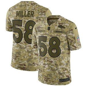 Camisa  NFL Denver Broncos Salute To Service Futebol Americano #58 Von Miller