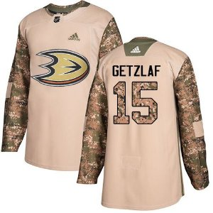 Camisa Nhl Anaheim Ducks Veterans Day #15 Ryan Getzlaf Hockey
