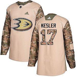Camisa Nhl Anaheim Ducks Veterans Day  #17 Ryan Kesler Hockey