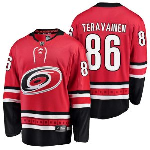 Camisa Jersey Nhl Carolina Hurricanes Hockey #86 Teravainen