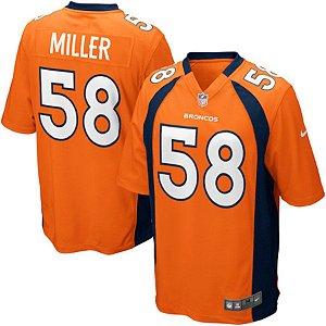 Camisa  NFL Denver Broncos Futebol Americano #58 Miller